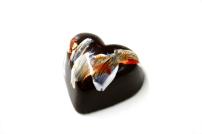 Dark Chocolate Hazelnut Heart, Alexander Chocolate, Alexander Seaton, Bespoke Chocolate, Corporate Chocolate, Personalised Chocolate, Natural Ingredients